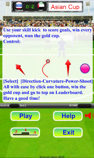 Asian Football Champions – Soccer free kick 1.0.1 cheat screenshots 2