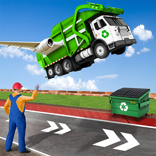 City Flying Garbage Truck driving simulator Game 1.4 APK MOD Download