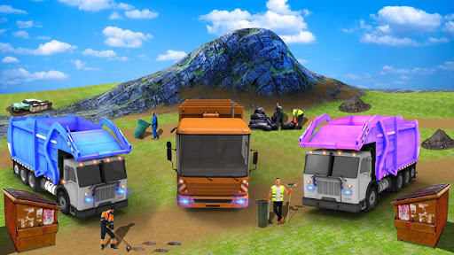 City Flying Garbage Truck driving simulator Game 1.4 cheat screenshots 1