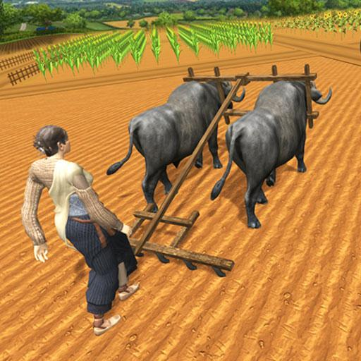 Village Plow Farming ExpertBull Farmers Simulator 1.0.3 APK MOD Free Download
